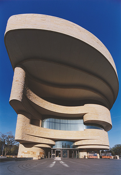 National Museum of the American Indian in early-morning sun